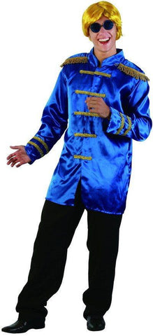 Costumes Men - Sgt Peppers Blue Jacket Rock-star Costume 60s 70s Fancy Dress Outfit