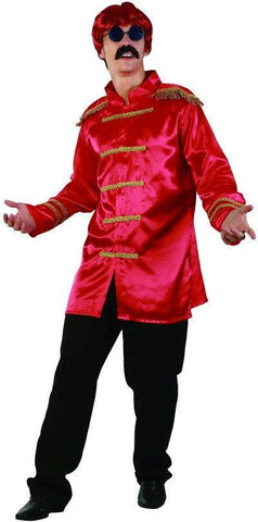 Costumes Men - Sgt Peppers Red Jacket Rock-star Costume 60s 70s Fancy Dress Outfit