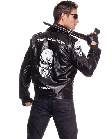 Costumes Men - The Terminator Mens Jacket Costume Licensed Fancy Dress