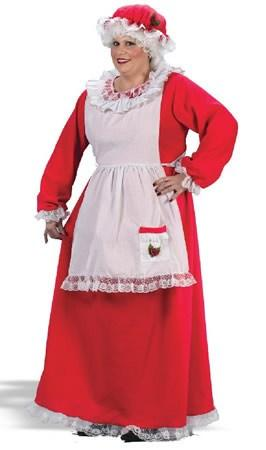Costumes - Mrs Claus Traditional Plus Womens Costume