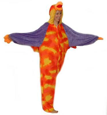 Parrot Adult Hire Costume
