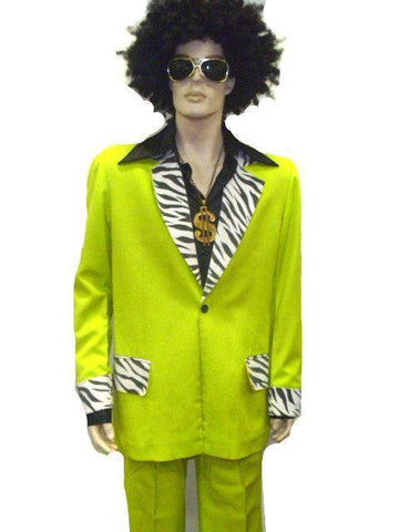 Costumes - Pimp Lime Zebra Suit Mens Costume