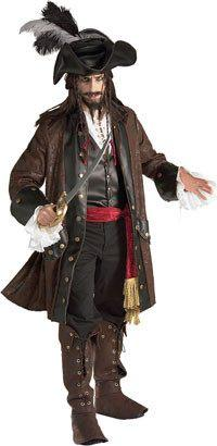 Costumes - Pirate Captain Caribbean Mens Costume