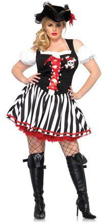 Costumes - Pirate Wench Booty Plus Womens Costume