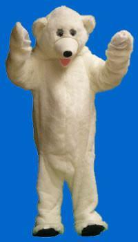 Polar Bear Adult Mascot Hire Costume