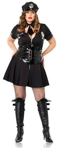 Costumes - Policewoman Officer Womens Costume Naughty Stretch Plus