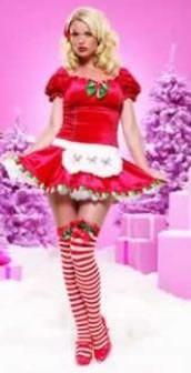 Costumes - Santa's Helper Miss Candy Womens Costume