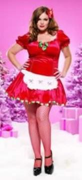 Costumes - Santa's Helper Womens Costume Miss Candy Plus