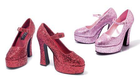 Costumes - Shoes Glitter Pink Womens