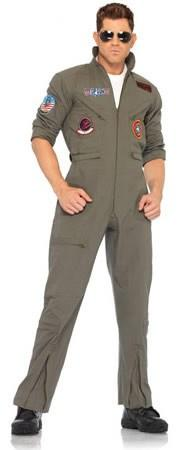 Costumes - Top Gun Adult Flight Suit Maverick Goose Iceman  Hire Costume