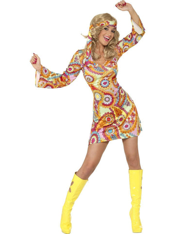 1960s Hippy Chick Womens Costume