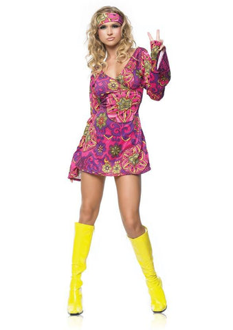 60s & 70s Go Go Girl Hippie Girl Womens Costume