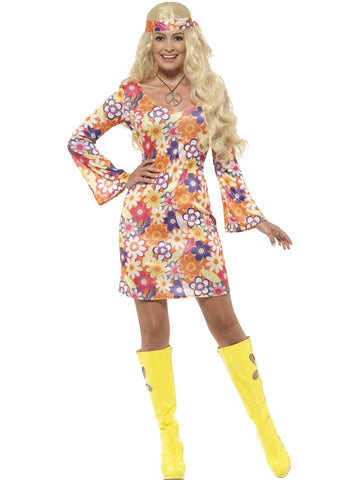 Costumes Women - 60s Flower Hippie Womens Costume