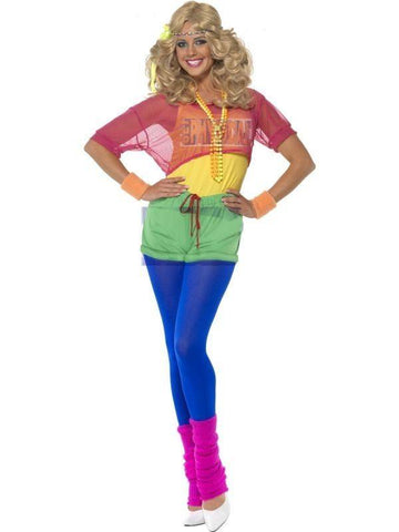 80's Aerobics Work Out Women's Costume