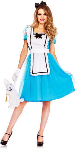 Costumes Women - Alice In Wonderland Classic Adult Hire Costume
