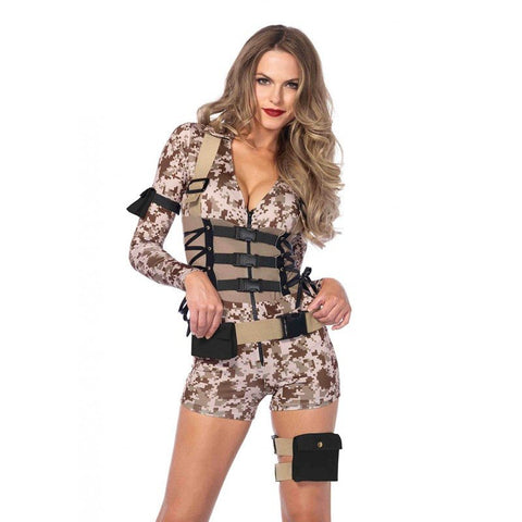 sc 1 st  Disguises Costumes & Army Women Costume Military Outfit Top Gun Babe Hot-pants Uniform