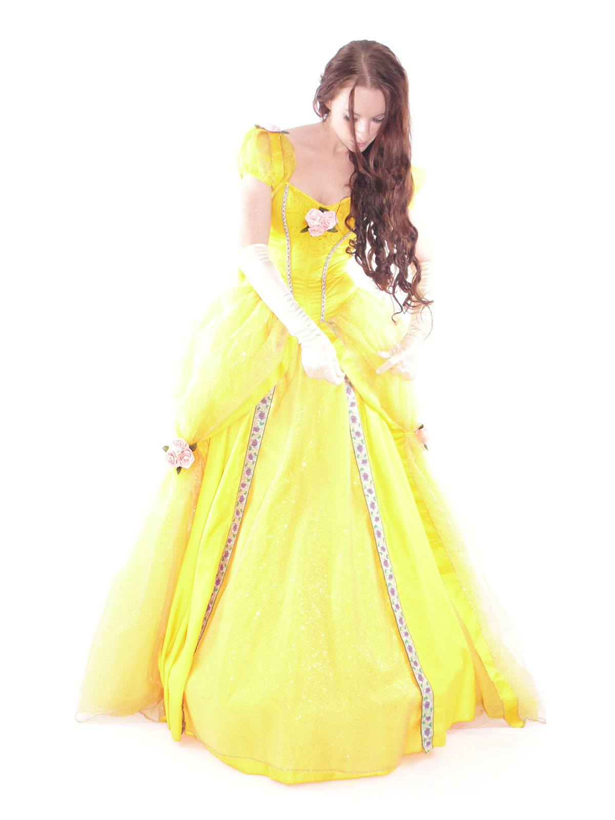 Costumes Women - Belle Deluxe Limited Edition Adult Princess Hire Costume