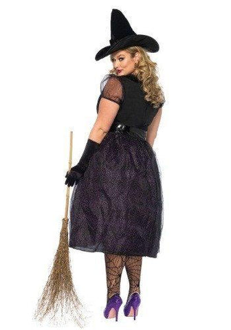 Black Plus Size Halloween Witch Costume