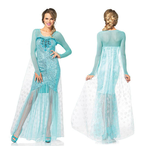 Costumes Women - Fairy Tale Snow Queen Adult  Hire Costume