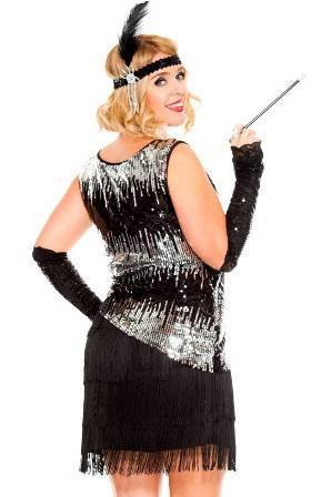Flapper Plus Size Womens Costume