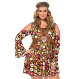 Costumes Women - Go Go Starflower Hippie Plus Size Womens Costume