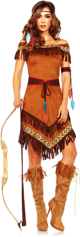Costumes Women - Indian Native Princess Adult Hire Costume