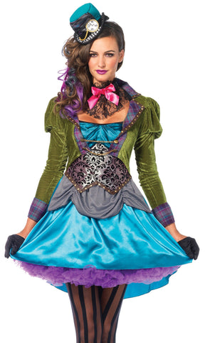 Costumes Women - Mad Hatter Deluxe Women's Hire Costume