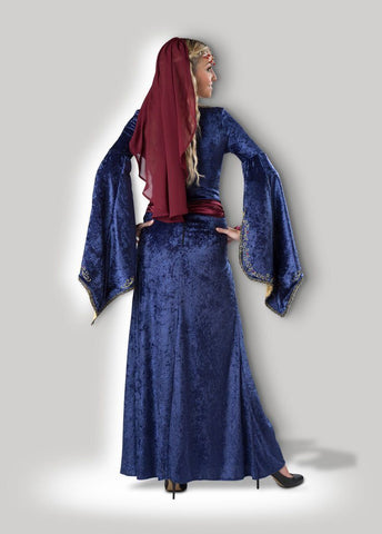 Maid Marian Medieval Fair and Banquet Hire Costume Gown back