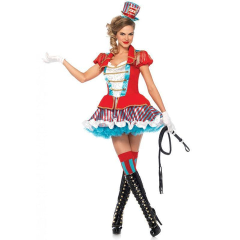 sc 1 st  Disguises Costumes & Ringmaster Adult Womens Circus Sexy Lion Tamer Fancy Dress Costume - Disguises Costumes