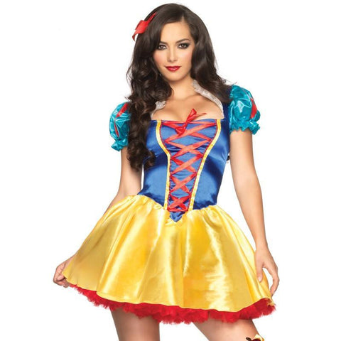 Snow White Fairytale Princess Storybook Adult Womens Fancy Dress Party Costume