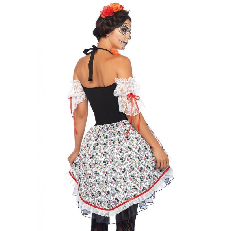 c4ef5efb Sugar Skull Women's Mexican Day Of The Dead Costume – Disguises Costumes  Hire & Sales