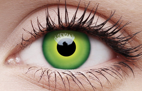 Coloured Halloween Contact Lenses Hulk Green