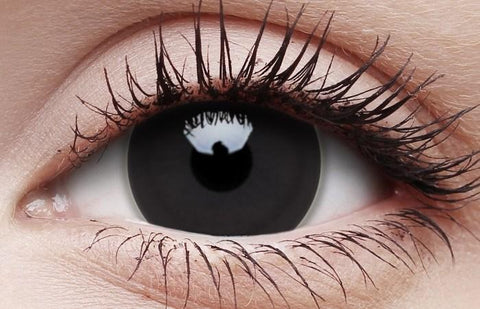 Black Out Titan Halloween Contact Lenses Multi Use Large Contacts