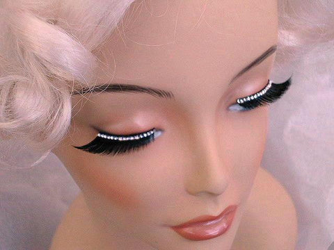 Eyelashes - Eyelashes Black With Bright Diamonds