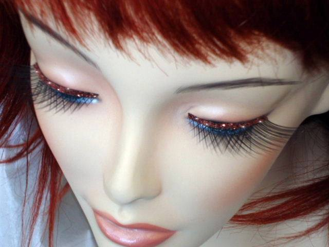 b857236d595 False Eyelashes Red Glitter Trim – Disguises Costumes Hire & Sales