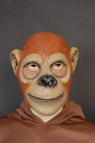 Brown Ape Mask Full Overhead Costume Accessory