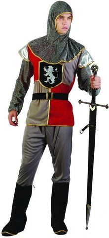 Medieval Knight Costume Renaissance  Mens Adult Warrior Fancy Dress Outfit
