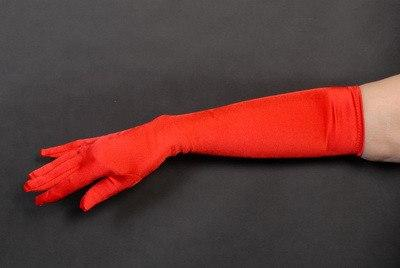 Gloves - Long Red Opera Gloves