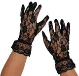Gloves - Short Lace Gloves Black