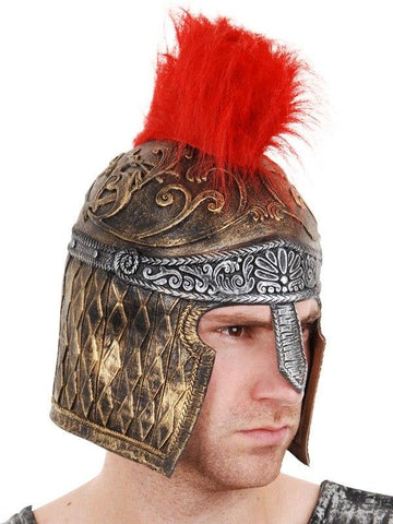 Hats - Gladiator Helmet Latex With Red Plume