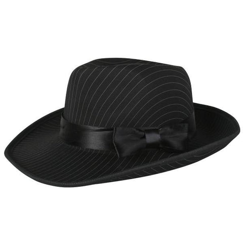 1920's Gangster Pin-Striped Costume Hat