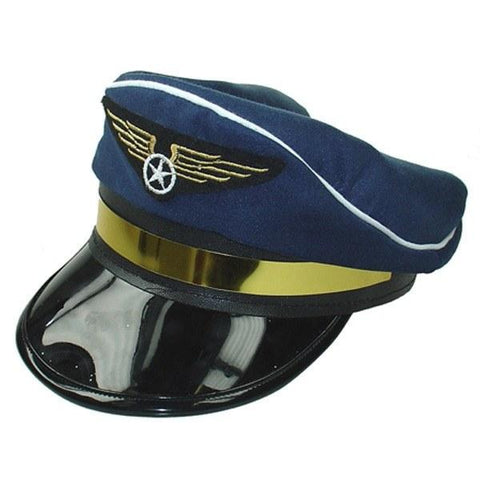 Hats Men - Blue Fancy Dress Pilot Hat For Sale