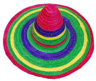 Hats - Mexican Sombrero - Multi Coloured