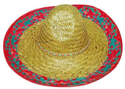 Hats - Sombrero Blue And Multi Trim