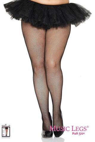 Black Fishnets Pantyhose Plus Size Tall Stockings Tights Sexy Hosiery