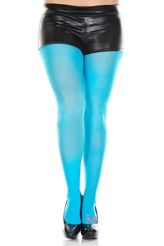 Tights Opaque Coloured Plus Size Fancy Dress Pantyhose Turquoise