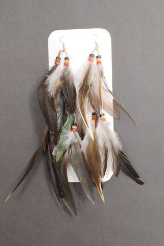 Indian - Indian Feather Earrings Extra Long