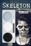 Mackeup/facebaint - Skeleton Halloween Colour Palette Face Paint