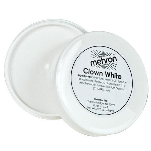 Makeup / Facepaint - White Foundation Clown Mehron Makeup