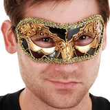 Masquerade Masks Men - Mask Luciana Black & Gold